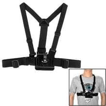 ST-25 verstelbare lichaam borst Strap Mount riem harnas met Buckle beugel schroeven voor GoPro Hero 4 / 3 + / 3 / 2 / 1(zwart)