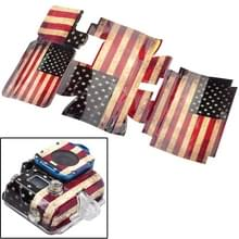 Retro USA vlag patroon hoes Sticker voor GoPro HERO3