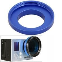 37mm aluminiumlegering UV-lens filterringadapter voor GoPro HERO 4 / 3+ / 3  ST-122(Blauw)