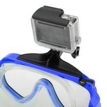 Water duiken apparatuur duiken masker zwemmen sportbril met Mount voor GoPro Hero 4 / 3 + / 3 / 2 / 1(blauw)