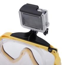 Water duiken apparatuur duiken masker zwemmen sportbril met Mount voor GoPro Hero 4 / 3 + / 3 / 2 / 1(geel)