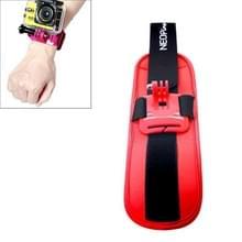 NEOpine sport duiken pols riem monteren stabilisator 90 graden draaibaar voor GoPro Hero 4 / 3 + / 3 / 2 / 1(rood)