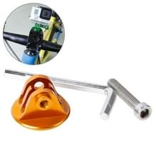 TMC hoofd stuurhouder met schroeven & Hex-schroevendraaier voor GoPro Hero 4 / 3 + / 3 / 2 / 1(Goud)