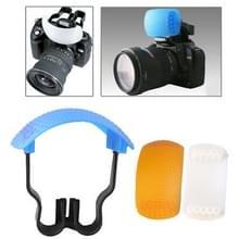pop-up flash zachte flits diffuser kit (diffusor wit / blauw diffuser / oranje diffuser / diffusor beugel)
