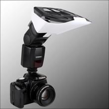 Universal FB-10X Camera Top Flash Light Speedlite Bounce Focus Flash Diffuser with 3 PCS Removable Color Light Reflector(Black)