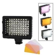 76 led video licht met drie kleur temperatuur transparante films (tawny / wit / paars)
