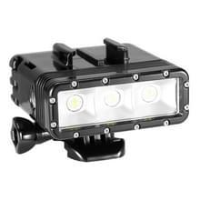 300LM Waterdicht Video licht zaklamp met basis Mount & schroeven & Dual batterijen voor GoPro HERO4 sessie /4 /3+/3 /2 /1  Dazzne  XiaoYi Camera