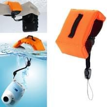 Onderdompelbare drijvende Bobber Hand polsband voor GoPro Hero 4 / 3 + / 3 / 2 / 1 / Powershot / D20 / D30 / Mini Camcorder SJ4000(Oranje)