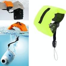 Onderdompelbare drijvende Bobber Hand polsband voor GoPro Hero 4 / 3 + / 3 / 2 / 1 / Powershot D20 / D30 / Mini Camcorder SJ4000 (fluorescerend groen)