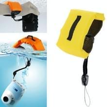 Onderdompelbare drijvende Bobber Hand polsband voor GoPro Hero 4 / 3 + / 3 / 2 / 1 / Powershot / D20 / D30 / Mini Camcorder SJ4000(geel)