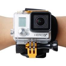 TMC Wrist Mount Clip Belt voor GoPro Hero 4 / 3+  Belt Lengte: 31cm  HR177(Goud)
