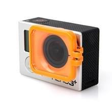 TMC Lens anti-blootstelling beschermings kap voor GoPro Hero 4 / 3+(Oranje)