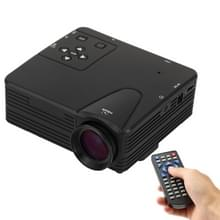 80 Lumen 1080P HD Multimedia Mini draagbare LED Projector  steun HDMI / VGA / AV / USB / SD-kaart  Model: H80(Black)