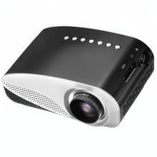 Vivibright GP8S draagbare Micro-Projector Home Theater Projector met afstandsbediening  2 4 inch LCD-panelen  ondersteuning voor USB / SD / HDMI(Black)