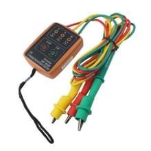SM852B 3 Phase Rotation Tester Indicator Detector Meter(Orange)