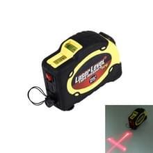 Laser niveau met meetlint Pro (25 voet) & riemclip / kan worden aangesloten op Tripod(Yellow)