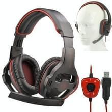 SADES SA903 USB 2.0 Stereo Gaming Headset Hoofdtelefoon met microfoon & gesimuleerd 7.1 Surround Geluid