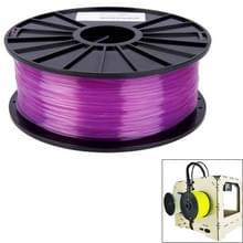 PLA 3.0 mm Transparent 3D Printer Filaments  about 115m(Purple)