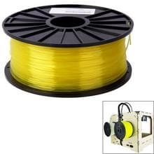 PLA 3.0 mm Transparent 3D Printer Filaments  about 115m(Yellow)