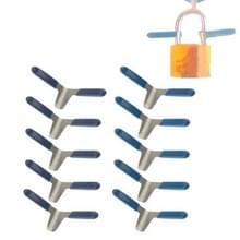 10 x vliegtuig Clip ontsluiten Lockpicks inbreker Tools voor soorten sloten