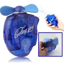 Mini Water Spray Fan with Powerful Safe Fan Blades  Size: About 109 x 73 x 27mm(Blue)