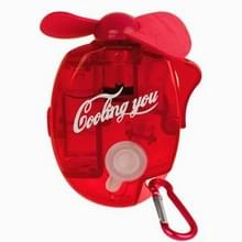 Mini Water Spray Fan with Powerful Safe Fan Blades  Size: About 109 x 73 x 27mm(Red)