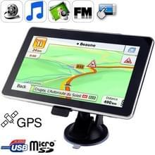 7 0 inch TFT Touch-screen Car GPS Navigator  Ingebouwd in 4 GB geheugen  Mini USB-poort  Touch Pen  Voice Broadcast  FM Radio-functie  Ingebouwde luidspreker  resoluties: 800 x 480 (Zwart)
