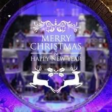 Decor van het huis Merry Christmas gelukkig Nieuwjaar verwisselbare Wall Stickers  grootte: 58cm x 58cm(White)