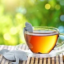 Schattige Manatee Infuser siliconen thee Strainers (grijs)