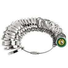 Houten handvat metalen koperen Ring Sizer as vinger Sizing Stick  HK grootte: 1-33
