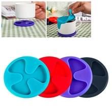 Anti-slip siliconen rode wijn & thee & koffie kopje Mat / deksel  willekeurige kleur levering Cup