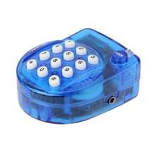 Telefoon van de QL-2008 Genius Mini Handsfree telefoon  grootte: 57 x 46 x 26mm(Blue)