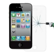 0 26 mm 9H oppervlakte hardheid 2.5D Explosieveilig Tempered glas scherm Film voor iPhone 4 & 4S