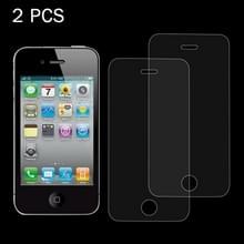 2 stk 0 26 mm 9H oppervlakte hardheid 2.5D Explosieveilig Tempered glas scherm Film voor iPhone 4 & 4S