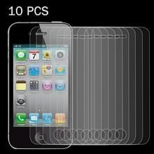 10 stuks 0 26 mm 9H oppervlakte hardheid 2.5D Explosieveilig Tempered glas scherm Film voor iPhone 4 & 4S