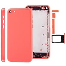 Full housing Chassis / backcover met montage plaat & Mute-toets + Power knop + volumeknop + Nano SIM-kaarthouder voor iPhone 5C(Pink)