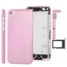 Full housing Plating kleur Chassis / backcover met montage plaat & Mute-toets + Power knop + volumeknop + Nano SIM-kaarthouder voor iPhone 5C(Pink)