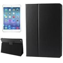 Litchi structuur Flip lederen hoesje met houder voor iPad Air  (zwart)