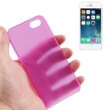 iPhone 5 & 5S ultra-dun 0.3mm beschermend Polycarbonaat back cover Hoesje (hard roze)