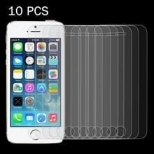 10 stuks voor iPhone SE & 5 & 5S & 5C 0 26 mm 9H oppervlakte hardheid 2.5D explosieveilige getemperd glas scherm Film
