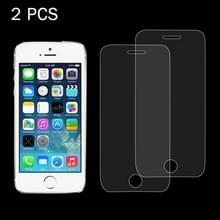 2 stuks voor iPhone SE & 5 & 5S & 5C 0 26 mm 9H oppervlakte hardheid 2.5D explosieveilige getemperd glas scherm Film