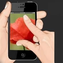 Gehard glas beschermfolie voor iPhone 5 & 5S & 5C(Black)