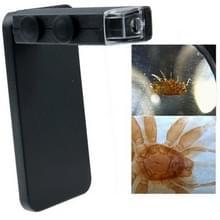 60-100 X Zoom digitale Cell Phone Microscoop Maginifier + backcover voor iPhone 5 & 5S(zwart)