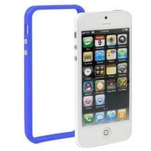 iPhone 5 & 5S & SE Kunststof Bumper Frame Hoesje met knoppen (blauw)