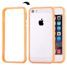 iPhone 5 & 5S & SE Kunststof Bumper Frame Hoesje met knoppen (Oranje)