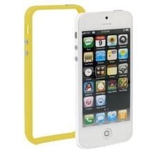 iPhone 5 & 5S & SE Kunststof Bumper Frame Hoesje met knoppen (geel)
