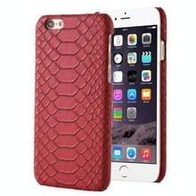 Slangenhuid textuur Hard terug dekking terug beschermhoes voor iPhone 5(Red)