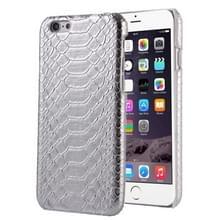 Slangenhuid textuur Hard terug dekking terug beschermhoes voor iPhone 5(Silver)