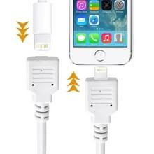 8 Pin mannetje naar 8 Pin vrouwtje verleng kabel voor iPhone 6 / 6S & 6 Plus / 6S Plus  iPhone 5 & 5S & 5C  iPad Air  Kabel Lengte: 1 meter (wit)