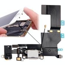Oorspronkelijke versie staart Connector Flex kabel lader + hoofdtelefoon Audio Jack Ribbon Flex kabel voor iPhone 5S(White)